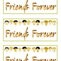 Printable Girls Friends Forever Bookmarks - Printable Bookmarks - Free Printable Crafts