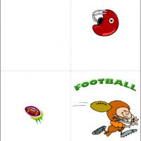 Printable Go Team Football - Printable Greeting Cards - Free Printable Cards