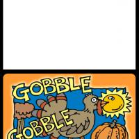 Printable Gobble Gobble Thanksgiving Card - Printable Greeting Cards - Free Printable Cards