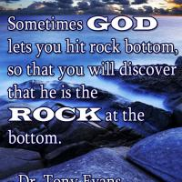 Printable God is the Rock Quote - Printable Inspirational Quotes - Free Printable Quotes
