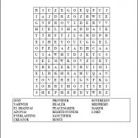 Printable God Word Search - Printable Word Search - Free Printable Games