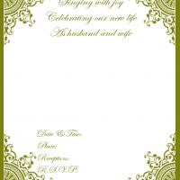 Gold Formal Wedding Invitation