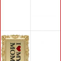 Printable Gold Frame Mother's Day Card - Printable Mothers Day Cards - Free Printable Cards