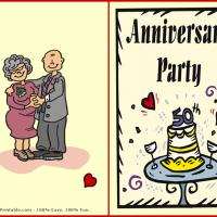 Golden Anniversary Party Invitation