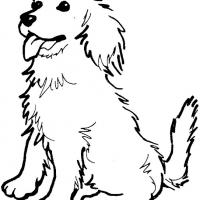 Printable Golden Retriever - Printable Coloring Sheets - Free Printable Coloring Pages