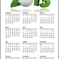 Printable Golf 2013 Calendar - Printable Yearly Calendar - Free Printable Calendars
