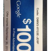 Google $100 Free Advertising Coupon