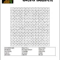 Goosebumps Word Search