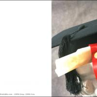 Grad Cap And Diploma With Seal