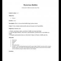 Printable Grade 1 & 2 Science: Mysterious Bubbles - Printable Lesson Plans - Free Printable Worksheets