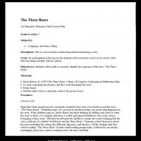 Printable Grade 1 Language: The Three Bears - Printable Lesson Plans - Free Printable Worksheets