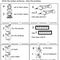 math worksheet : grade 1 math addition and subtraction word problem : Math Word Problems Printable Worksheets