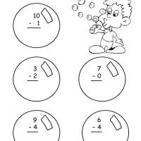 Printable Grade 1 Math- Blowing Bubbles Themed Subtraction - Free Printable Math Worksheets - Free Printable Worksheets