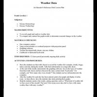 Grade 1 Science: Weather Data