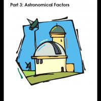 Printable Grades 5-8 Astronomy Part3 - Astronomical Factors - Printable Lesson Plans - Free Printable Worksheets