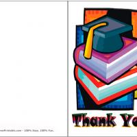 Printable Graduate's Cap - Printable Thank You Cards - Free Printable Cards