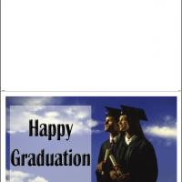 Printable Graduates With Sky Background - Printable Graduation Cards - Free Printable Cards