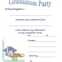 Graduation Announcement And Invitation