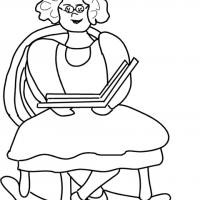 Printable Grandmother Reading Stories - Printable Coloring Sheets - Free Printable Coloring Pages