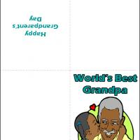 Printable Grandpa with Granddaughter - Printable Greeting Cards - Free Printable Cards