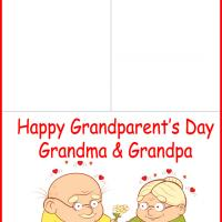 Printable Grandparent's Love - Printable Greeting Cards - Free Printable Cards