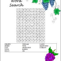 Printable Grapes Word Search - Printable Word Search - Free Printable Games