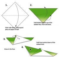 Printable Grasshopper Origami - Paper Crafts - Free Printable Crafts