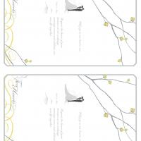 Gray and Mustard Bloom Fill-in Card Invitation