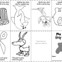 Printable Gray Color Recognition - Printable Preschool Worksheets - Free Printable Worksheets
