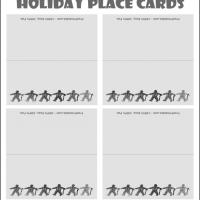 Printable Gray Gingerbread Man Place Cards - Printable Place Cards - Free Printable Cards