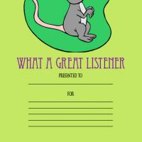 Printable Great Listener Award - Printable Awards - Misc Printables