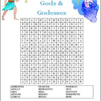 Printable Greeks Gods And Goddesses - Printable Word Search - Free Printable Games