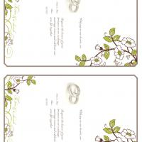 Green and Brown Bloom Fill-in Card Invitation