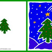 Printable Green Christmas Tree Card - Printable Christmas Cards - Free Printable Cards