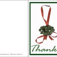 Printable Green Ribbon - Printable Thank You Cards - Free Printable Cards