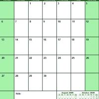 Green September 2009 Calendar