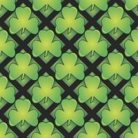 Green Shamrock Wrapping Paper