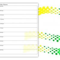 Printable Green Tire Tracks Daily Planner - Printable Daily Calendar - Free Printable Calendars