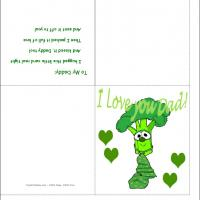 Printable Green Veggie Father's Day Card - Printable Fathers Day Cards - Free Printable Cards