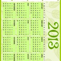 Green Vines 2013 Calendar