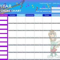 Guitar Chore Chart