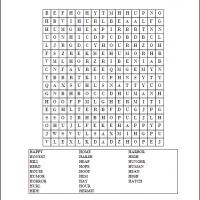 H Word Search