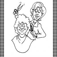 Hairdresser Flash Card