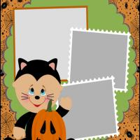 Printable Halloween Baby Scrapbook - Printable Scrapbook - Free Printable Crafts