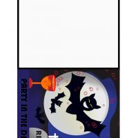 Halloween Bat Party Invitation Cards