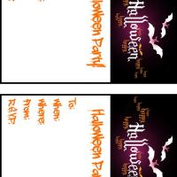 Printable Halloween Bats Invitation Cards - Printable Party Invitation Cards - Free Printable Invitations