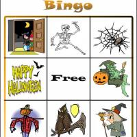 Printable Halloween Bingo Card 1 - Printable Bingo - Free Printable Games