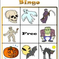 Printable Halloween Bingo Card 2 - Printable Bingo - Free Printable Games