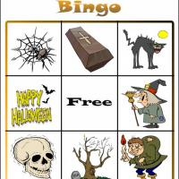 Printable Halloween Bingo Card 4 - Printable Bingo - Free Printable Games