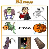 Printable Halloween Bingo Card 5 - Printable Bingo - Free Printable Games